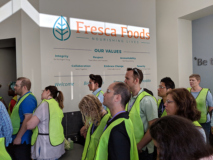 Donning Safety Vests on the Way into Fresca Foods