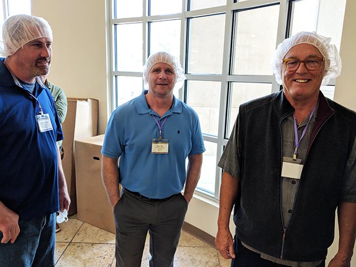 Dave De Klyen, Silas Rier and Mark Retzloff at Hope Foods